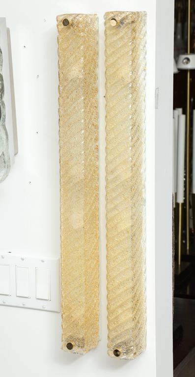 Barovier Murano Glass Rectangular Sconces 2