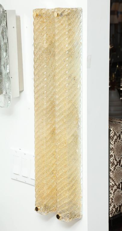 Barovier Murano Glass Rectangular Sconces 3