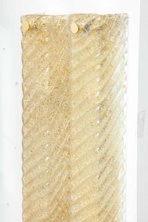 Barovier Murano Glass Rectangular Sconces 4