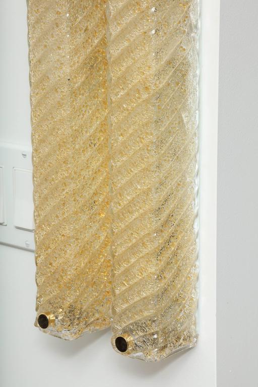 Barovier Murano Glass Rectangular Sconces 5