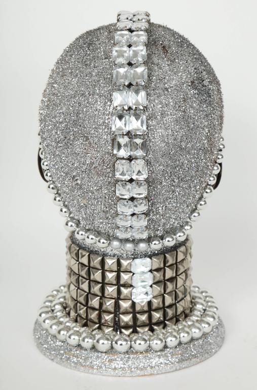 Silver Metallic Android Bust by W. Beaupre For Sale 1