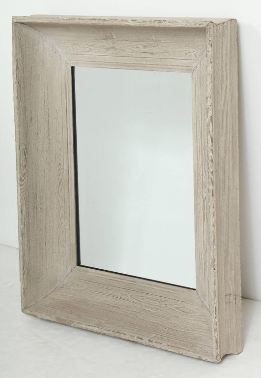 Raw Oak Framed Mirror at 1stdibs