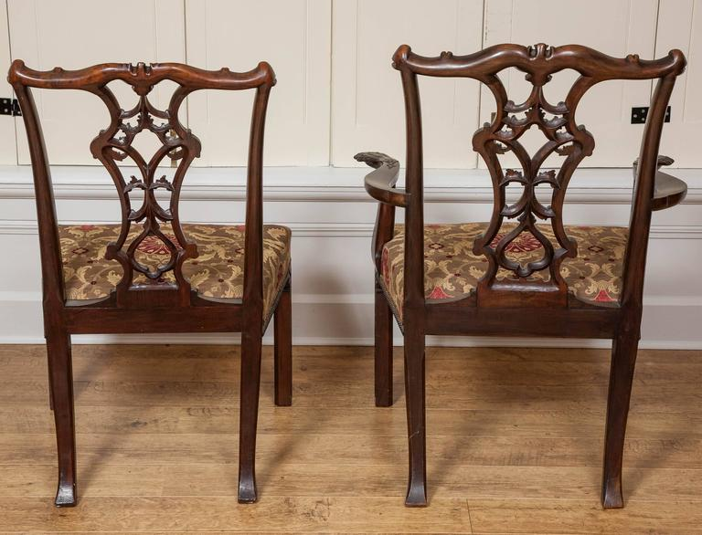 Mahogany Dining Chairs, 19th Century, Set of Ten In Excellent Condition For Sale In London, GB