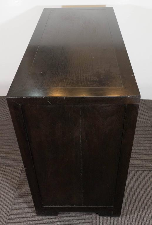 Baker Asian Inspired Ebonized Cabinet For Sale 2