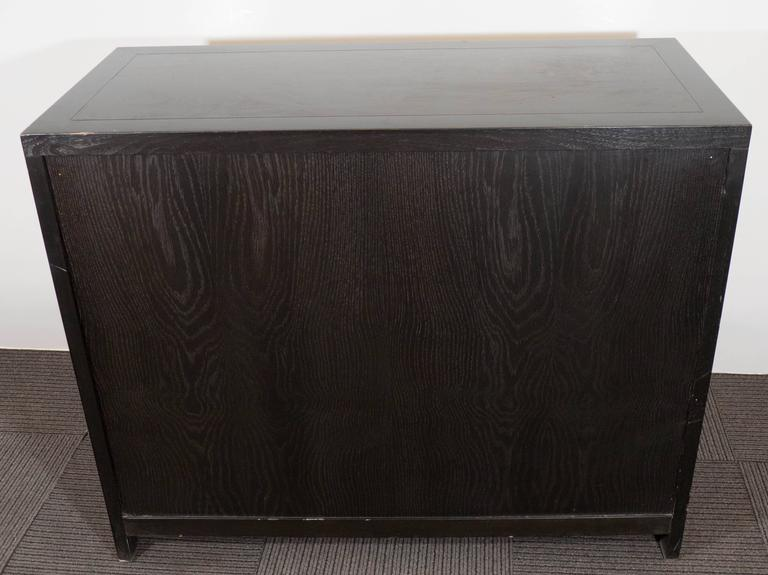 Baker Asian Inspired Ebonized Cabinet For Sale 3