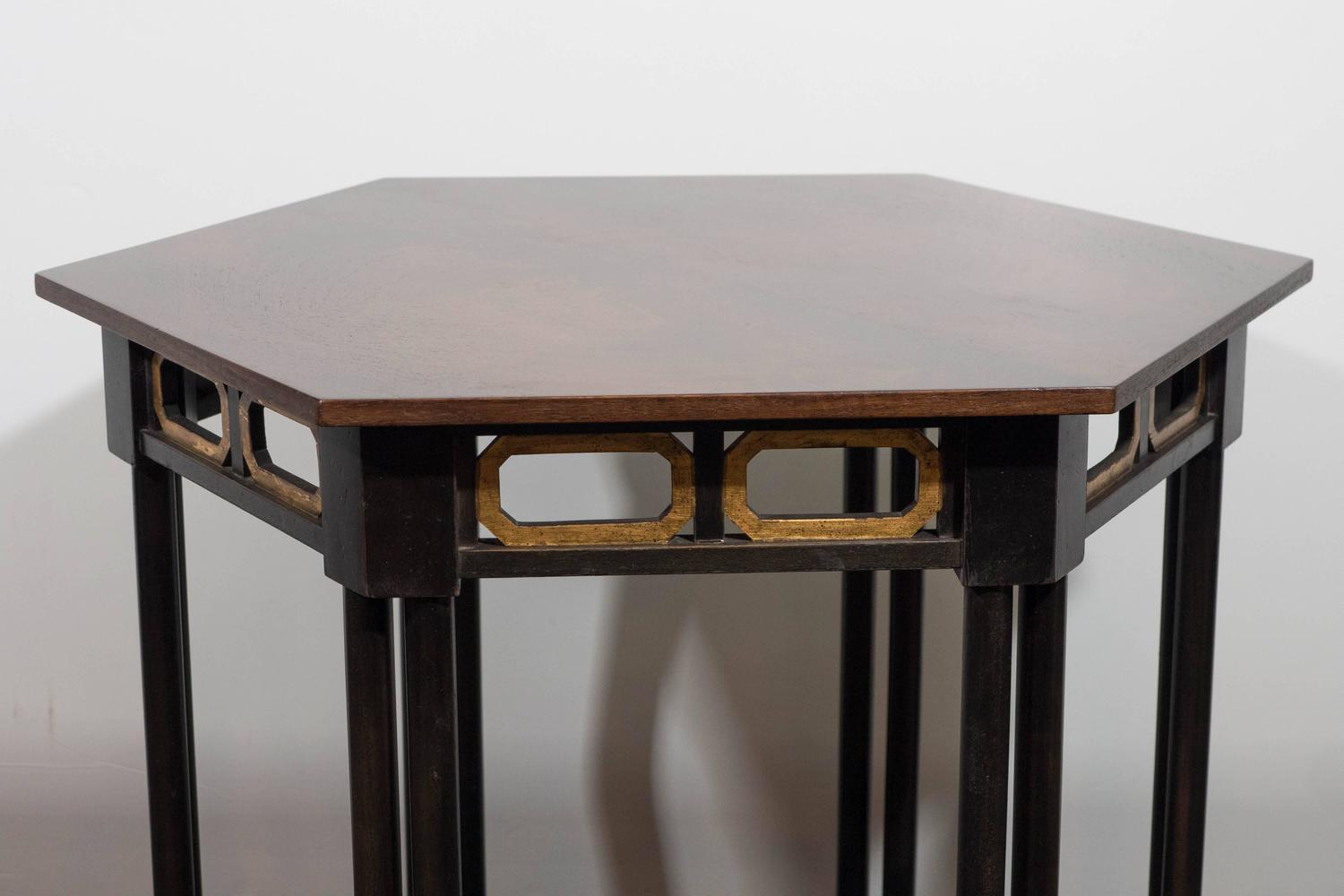 Pair Of Moorish Style Hexagonal Side Tables By Baker Furniture For Sale At 1stdibs
