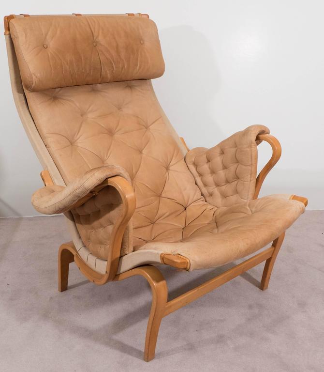 Bruno Mathsson 'Pernilla' Lounge Chair and Ottoman for DUX 2