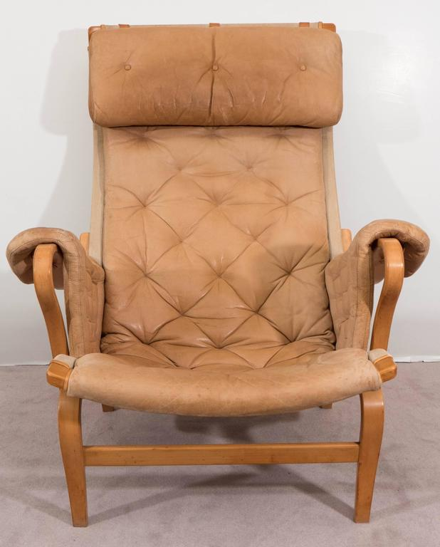 Bruno Mathsson 'Pernilla' Lounge Chair and Ottoman for DUX 3