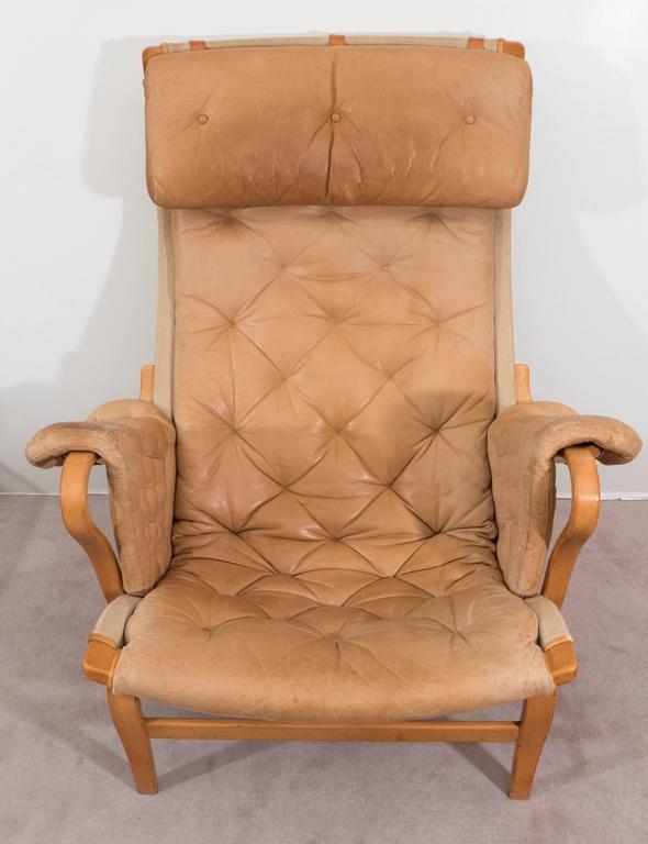 Bruno Mathsson 'Pernilla' Lounge Chair and Ottoman for DUX 4
