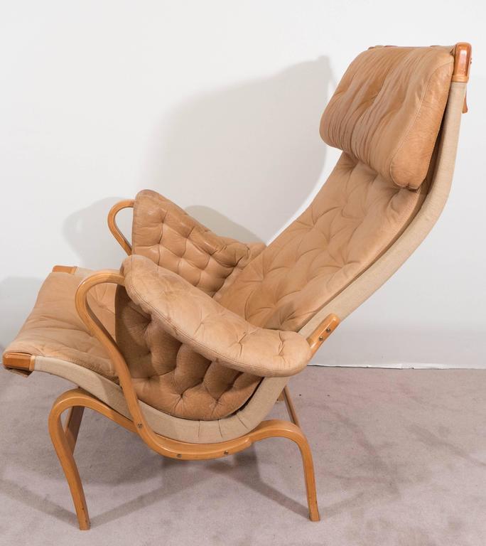 Bruno Mathsson 'Pernilla' Lounge Chair and Ottoman for DUX 5