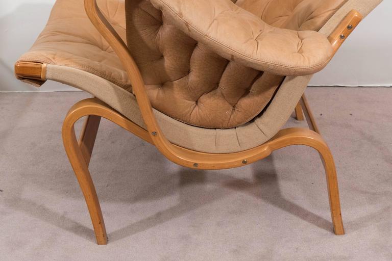 Bruno Mathsson 'Pernilla' Lounge Chair and Ottoman for DUX 6