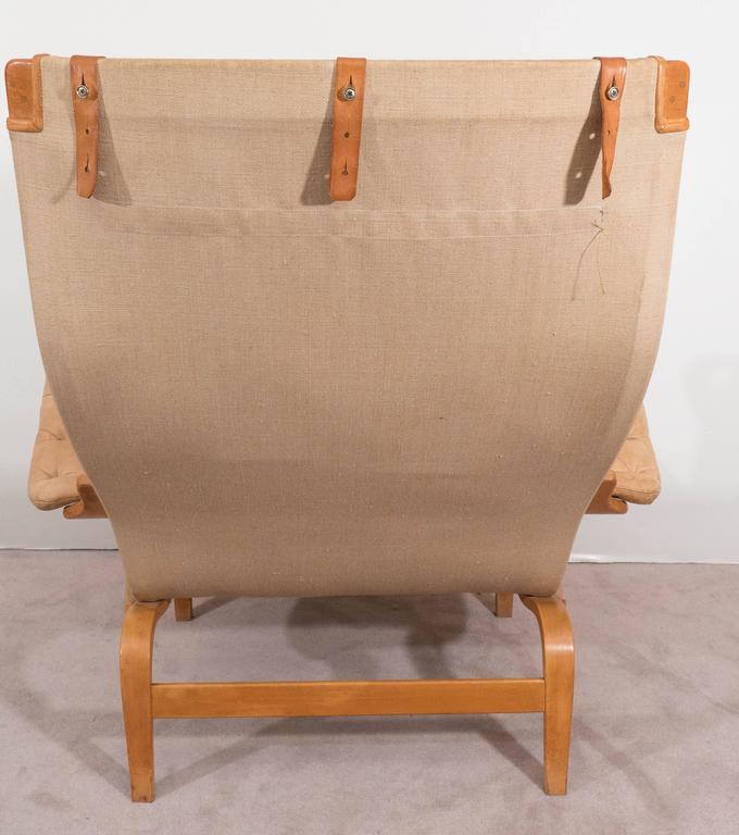 Bruno Mathsson 'Pernilla' Lounge Chair and Ottoman for DUX 7