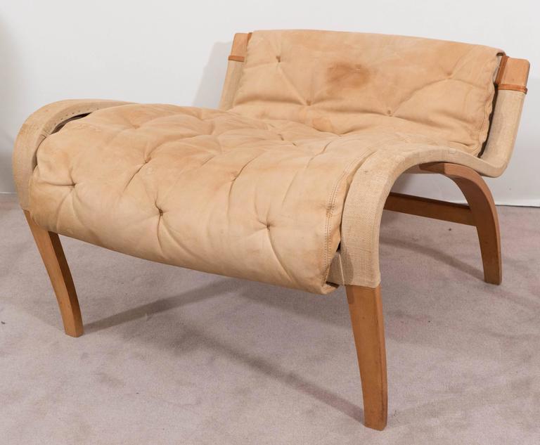 Bruno Mathsson 'Pernilla' Lounge Chair and Ottoman for DUX 8