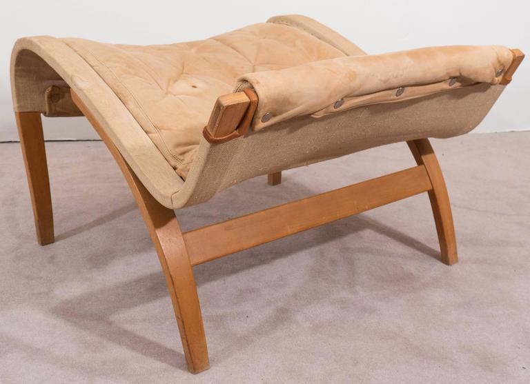 Bruno Mathsson 'Pernilla' Lounge Chair and Ottoman for DUX 9