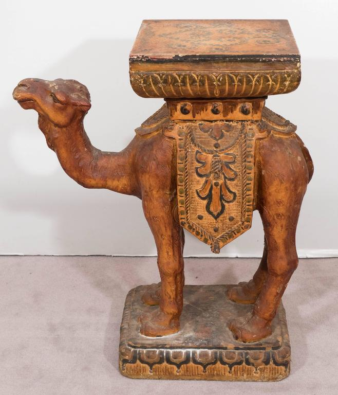 Mid Century Camel Side Table At 1stdibs