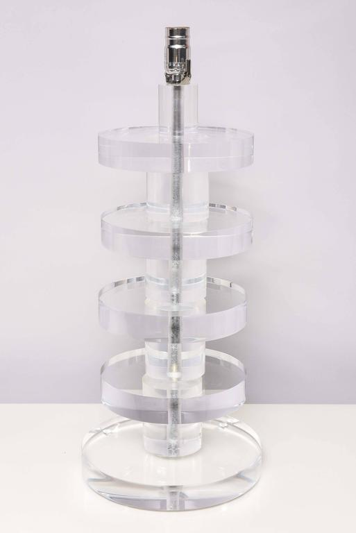 SALE! SALE!SALE! Karl Springer Style, Huge Lucite Lamps, Vintage, Chunky Lucite For Sale 2