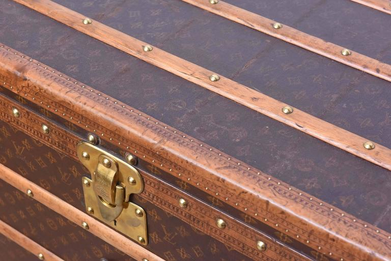 Early 20th Century Louis Vuitton Steamer Trunk 4