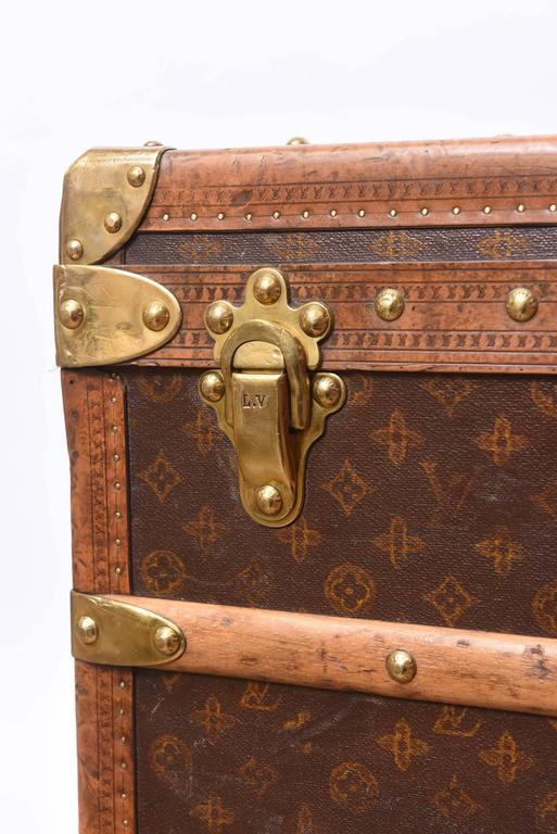 Early 20th Century Louis Vuitton Steamer Trunk 7