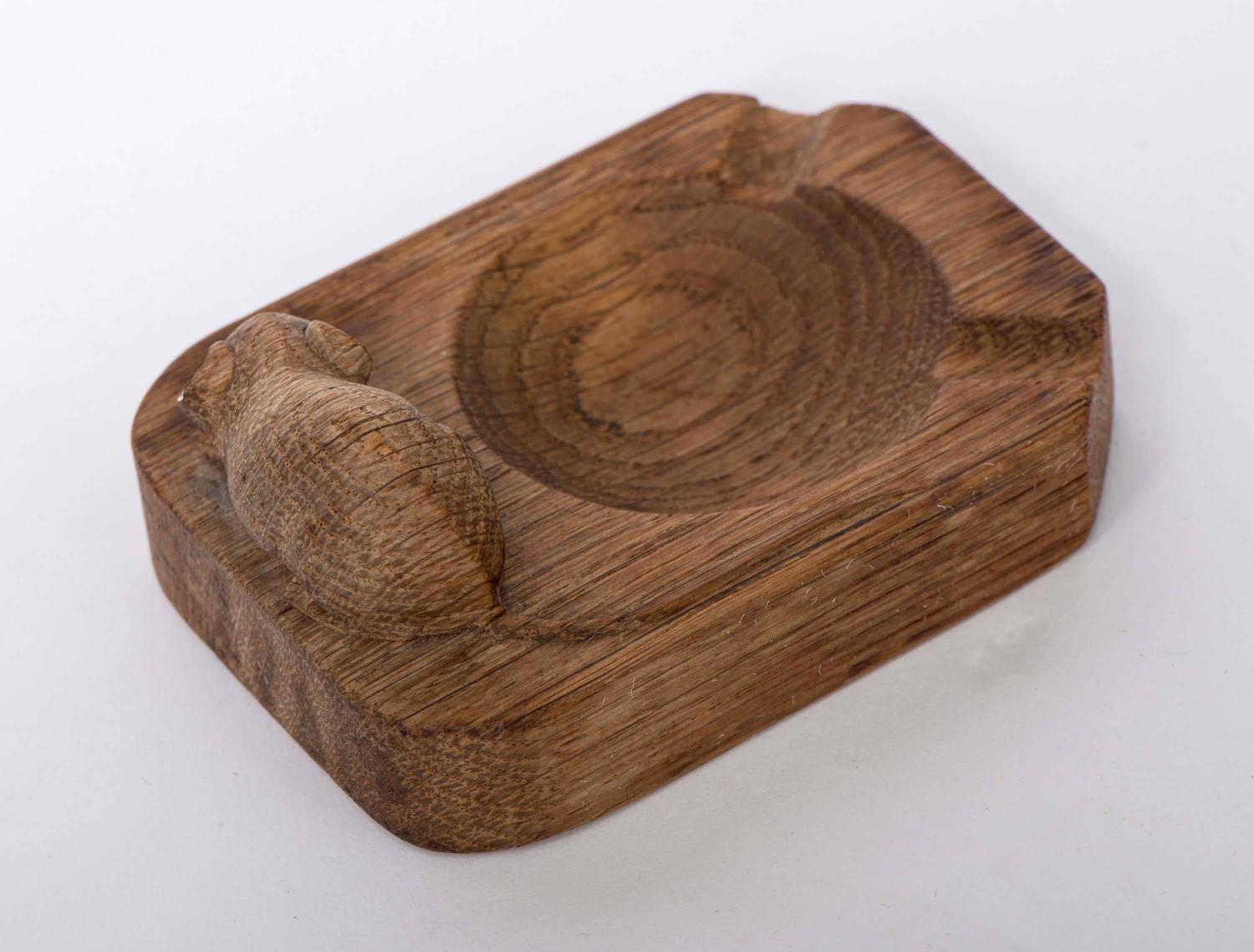 Robert mouseman thompson oak carved ashtray at stdibs