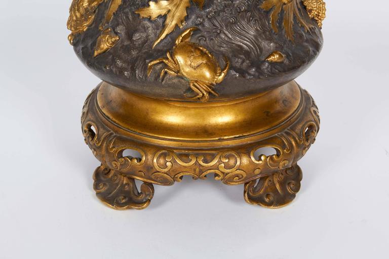 french japonisme ormolu and silvered bronze cut glass vase. Black Bedroom Furniture Sets. Home Design Ideas