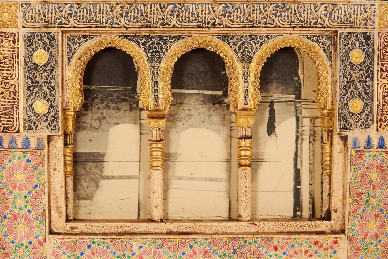 Spanish plaster wall plaque depicting the alhambra moorish for Alhambra decoration