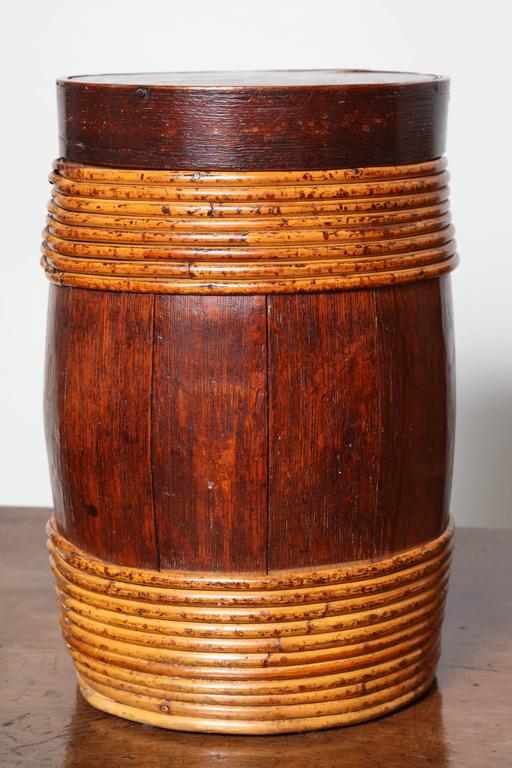 European Collection of Willow Banded Treen Vessels For Sale
