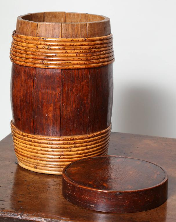 Collection of Willow Banded Treen Vessels In Excellent Condition For Sale In Bridgeport, CT