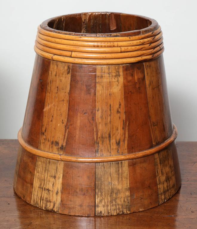 19th Century Collection of Willow Banded Treen Vessels For Sale