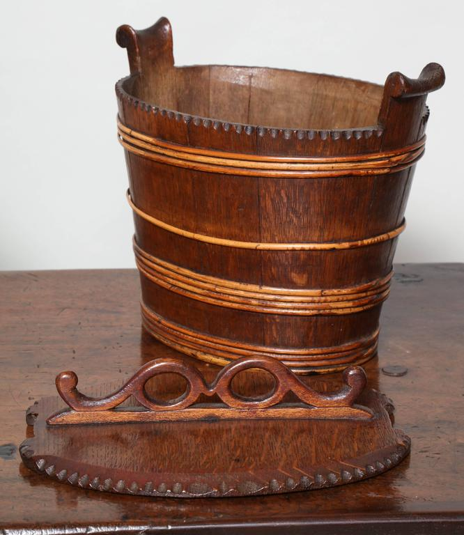 Collection of Willow Banded Treen Vessels For Sale 1