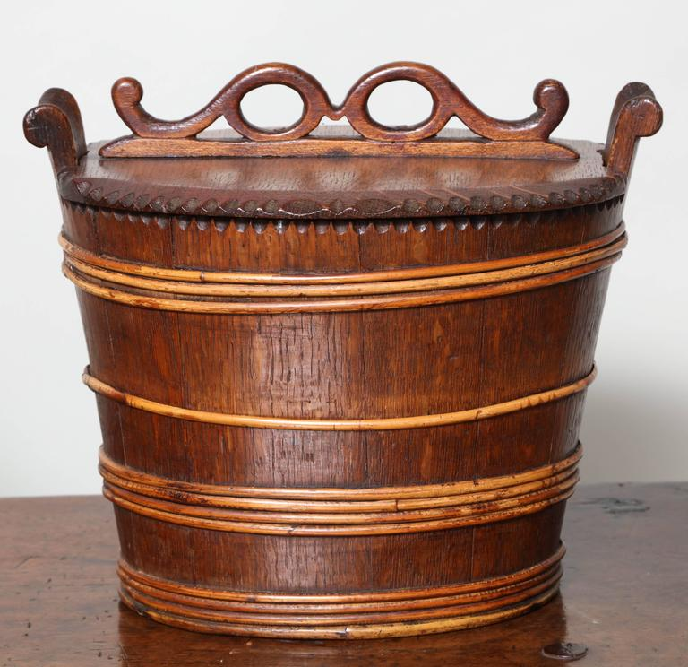 Collection of Willow Banded Treen Vessels For Sale 2