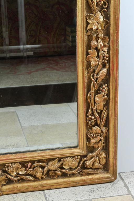 18th Century English Carved Giltwood Mirror For Sale 1