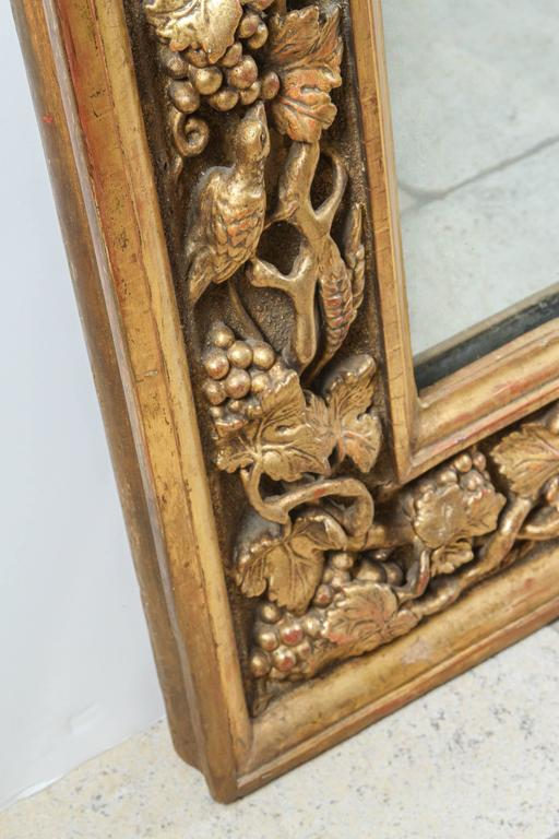 18th Century English Carved Giltwood Mirror For Sale 2