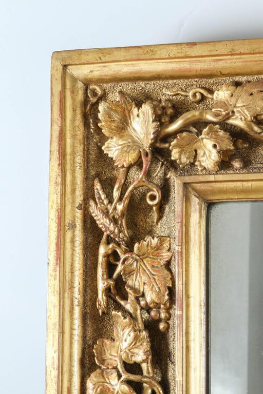 18th Century English Carved Giltwood Mirror For Sale 3