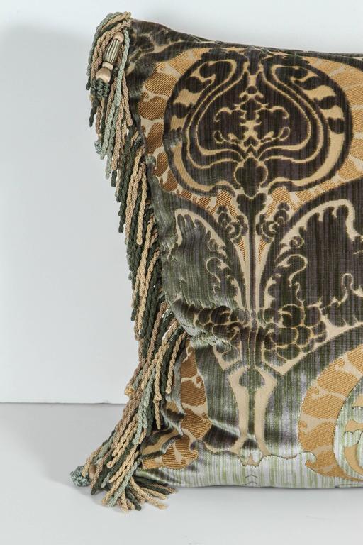 American Pair of Luigi Bevilacqua Silk Velvet Pillows For Sale