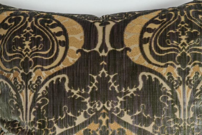 Hand-Crafted Pair of Luigi Bevilacqua Silk Velvet Pillows For Sale