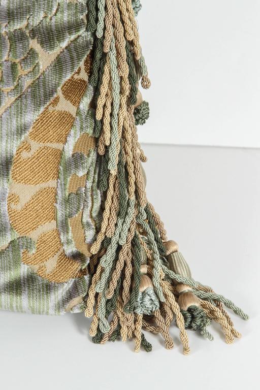 Pair of Luigi Bevilacqua Silk Velvet Pillows In Excellent Condition For Sale In Los Angeles, CA