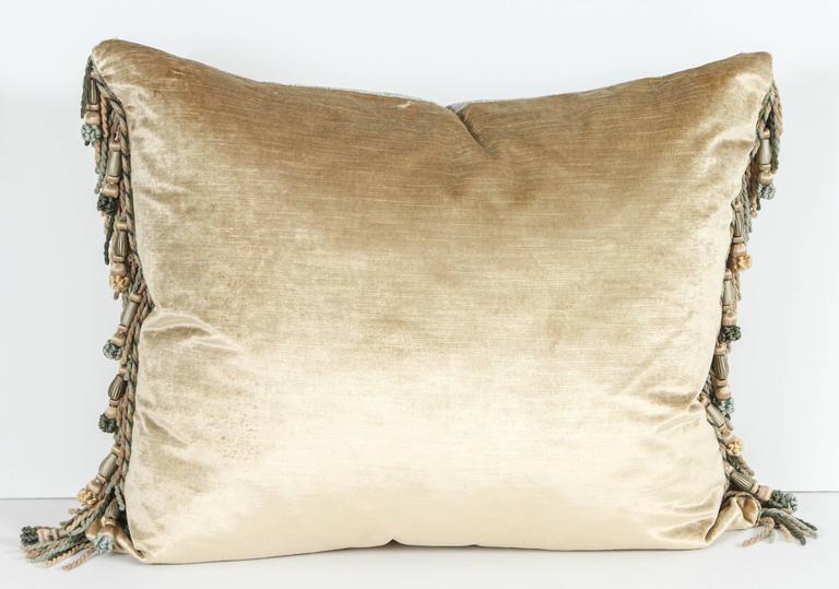 Contemporary Pair of Luigi Bevilacqua Silk Velvet Pillows For Sale