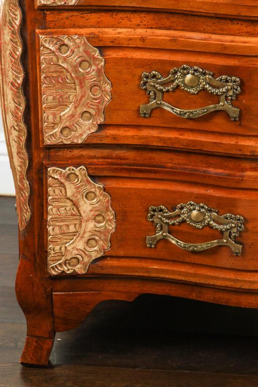 French 18th Century Lyonaise Three Drawer Walnut Commode For Sale