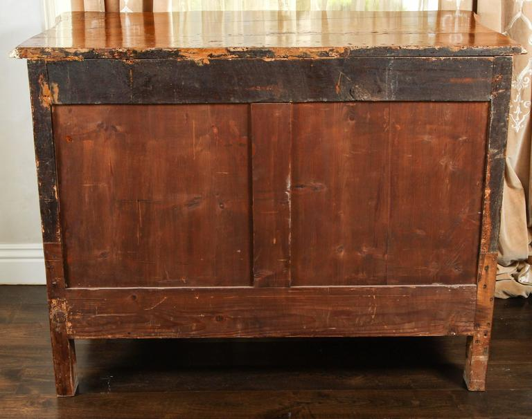 18th Century Lyonaise Three Drawer Walnut Commode For Sale 4