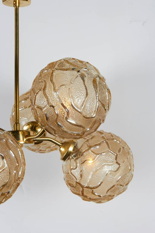 French Mid-Century Sputnik Chandelier with Champagne Glass Globes 5