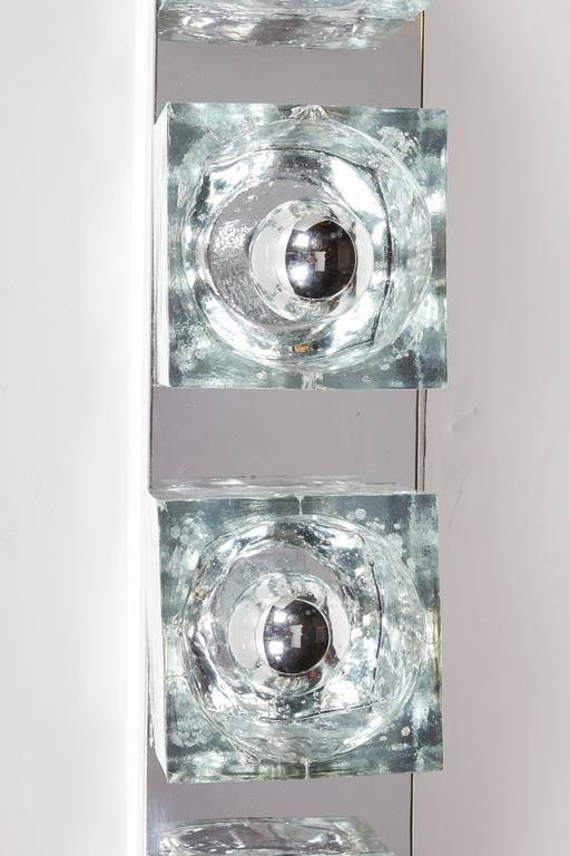 Mid-Century Modern Wall Light with Cubist Design by Gaetano Sciolari For Sale 2