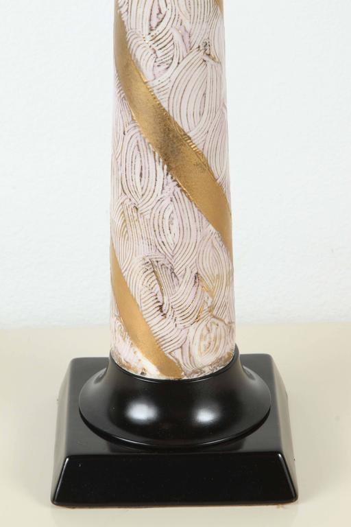 Pair of Elegant Ceramic Table Lamps For Sale 3