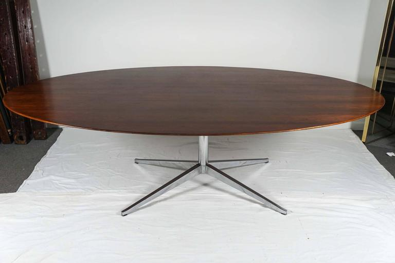 Florence Knoll Oval Rosewood Dining Table, Desk, Conference Table 8 foot 3 - Florence Knoll Oval Rosewood Dining Table, Desk, Conference Table