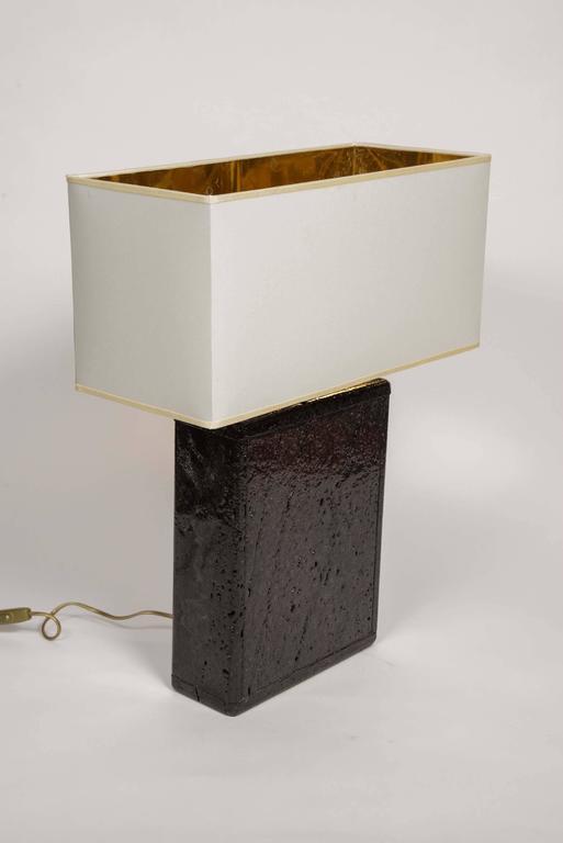 Original Pair Of Black Lava Rock Lamps For Sale At 1stdibs