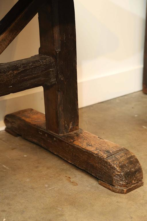 items similar to 18th century single plank top trestle monastery table