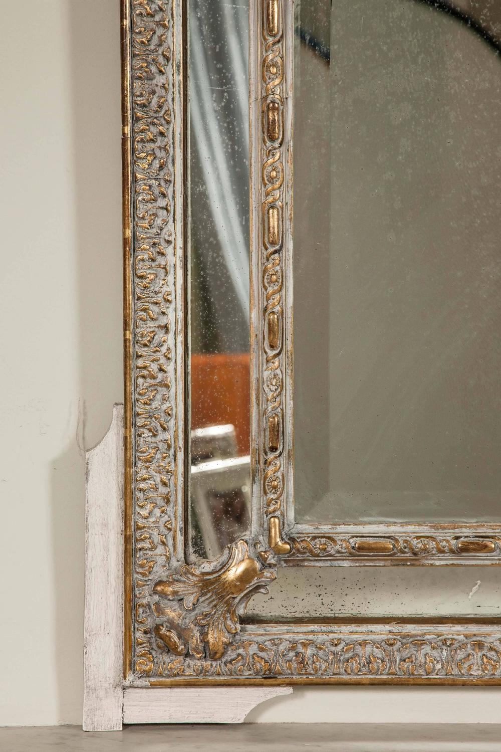 Pair of large ornate mirrors with detailed frame for sale for Large framed mirrors for sale