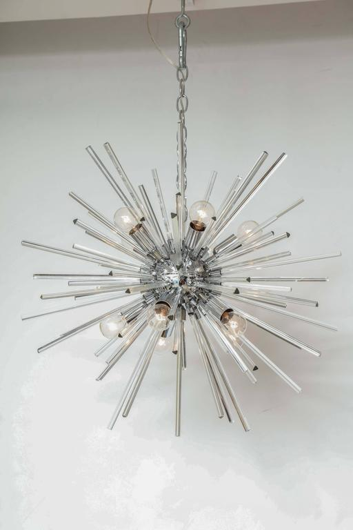 Italian Murano Glass Sputnik Chandelier Attributed to Venini, circa 1970s 3