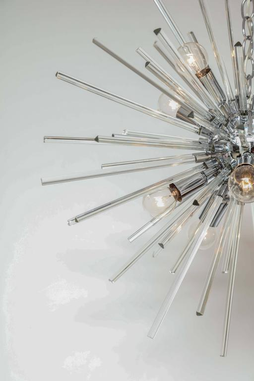 Italian Murano Glass Sputnik Chandelier Attributed to Venini, circa 1970s 4