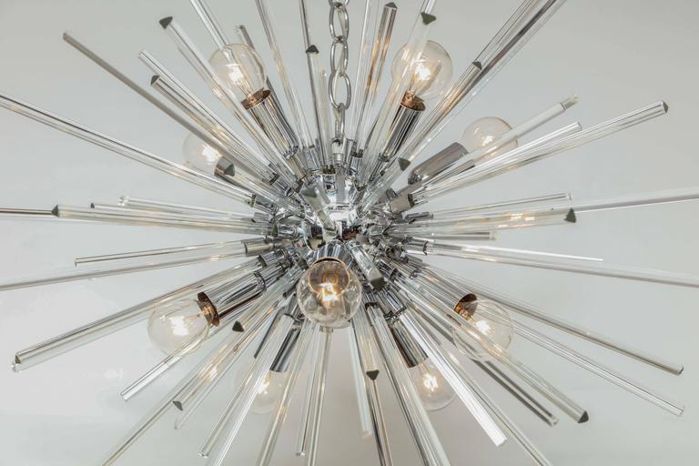Italian Murano Glass Sputnik Chandelier Attributed to Venini, circa 1970s 5