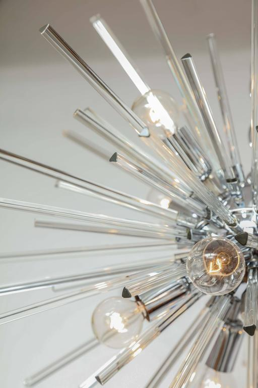 Italian Murano Glass Sputnik Chandelier Attributed to Venini, circa 1970s 8